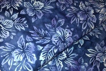 BLUE FLOWER * Lake Day * Batikstoff aus Indonesien