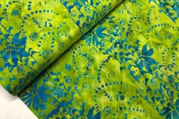 GREEN * Bandon * Batikstoff aus Indonesien