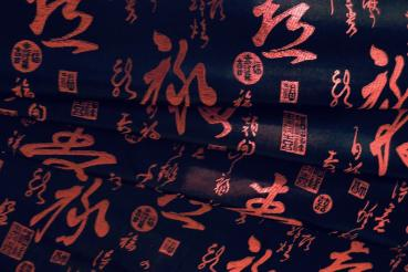 CHINESE SCRIPTURE Satin aus China