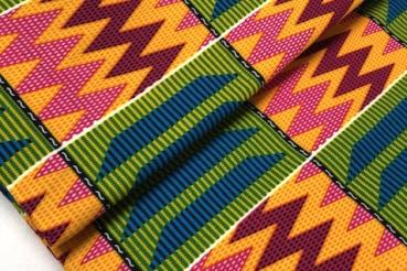 COLORFUL MOUNTAIN PEAKS Afrikanischer Kente Stoff