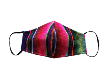MULTICOLOR HACIENDA STRIPED Maske aus Guatemala