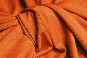 BURNT ORANGE Viskosejersey