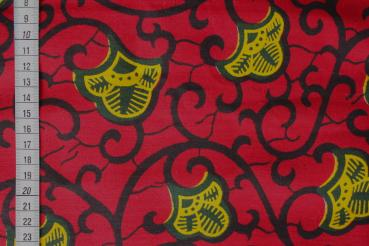 RED BEAUTY Wax Print Stoff - hier kaufen