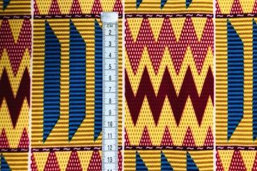 YELLOW-MOUNTAIN-PEAKS-Afrikanischer-Kente-Stoff-