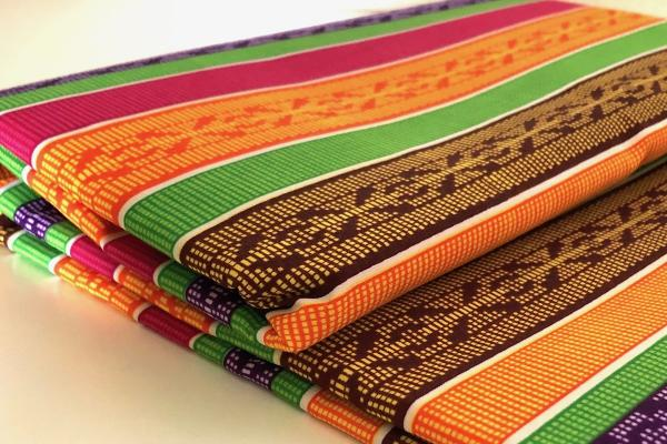 COLORFUL-STRIPES kente