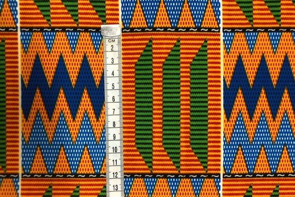 ORANGE-MOUNTAIN-PEAKS-Afrikanischer-Kente-Stoff-