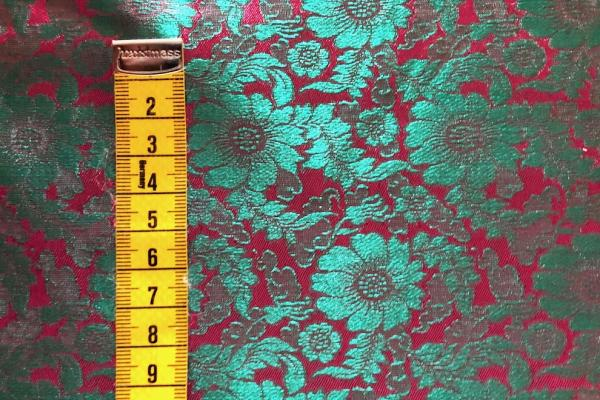 TURQUOISE PINK FLOWERS Seidenjacquard - hier kaufen